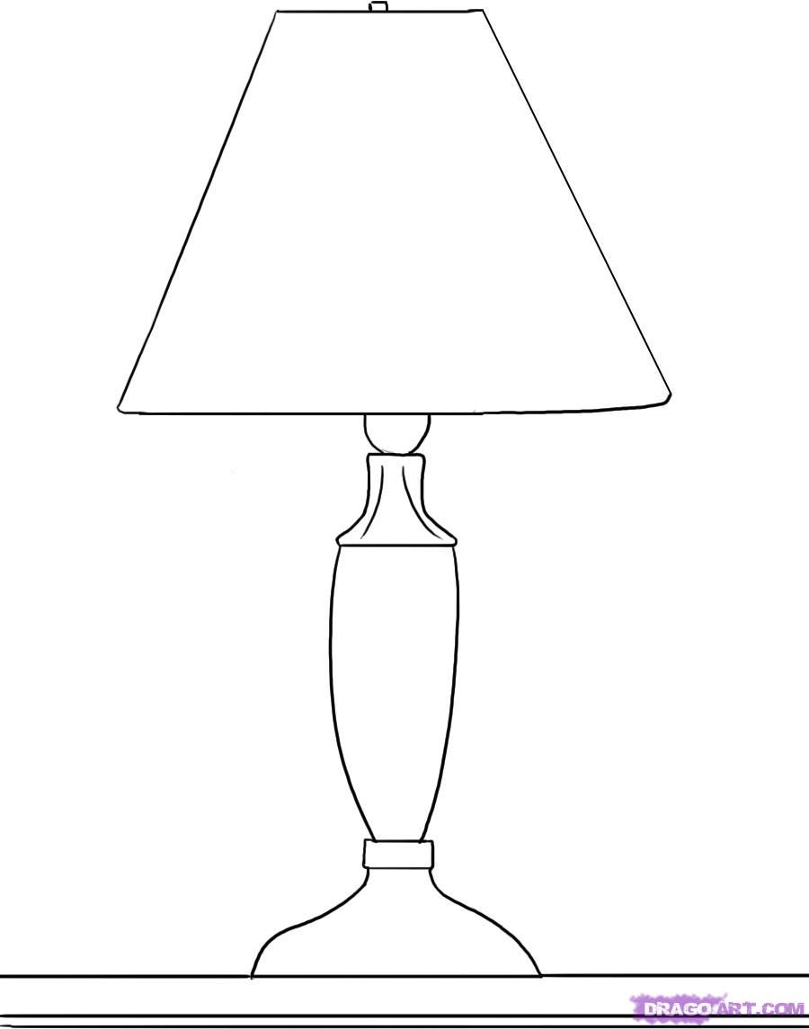 How To Draw A Lamp