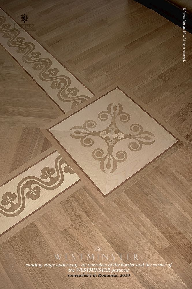 The Westminster Hardwood Floor Border Inlay Manuifactured By Pavex