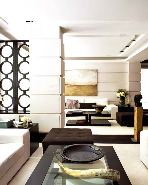 living-room-decorating-ideas-eclectic-home-decor-gold-white-abstract ...