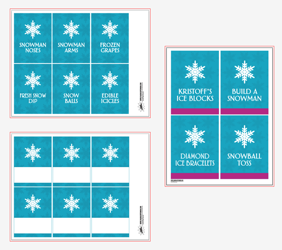 Frozen Party Free Printable Tags