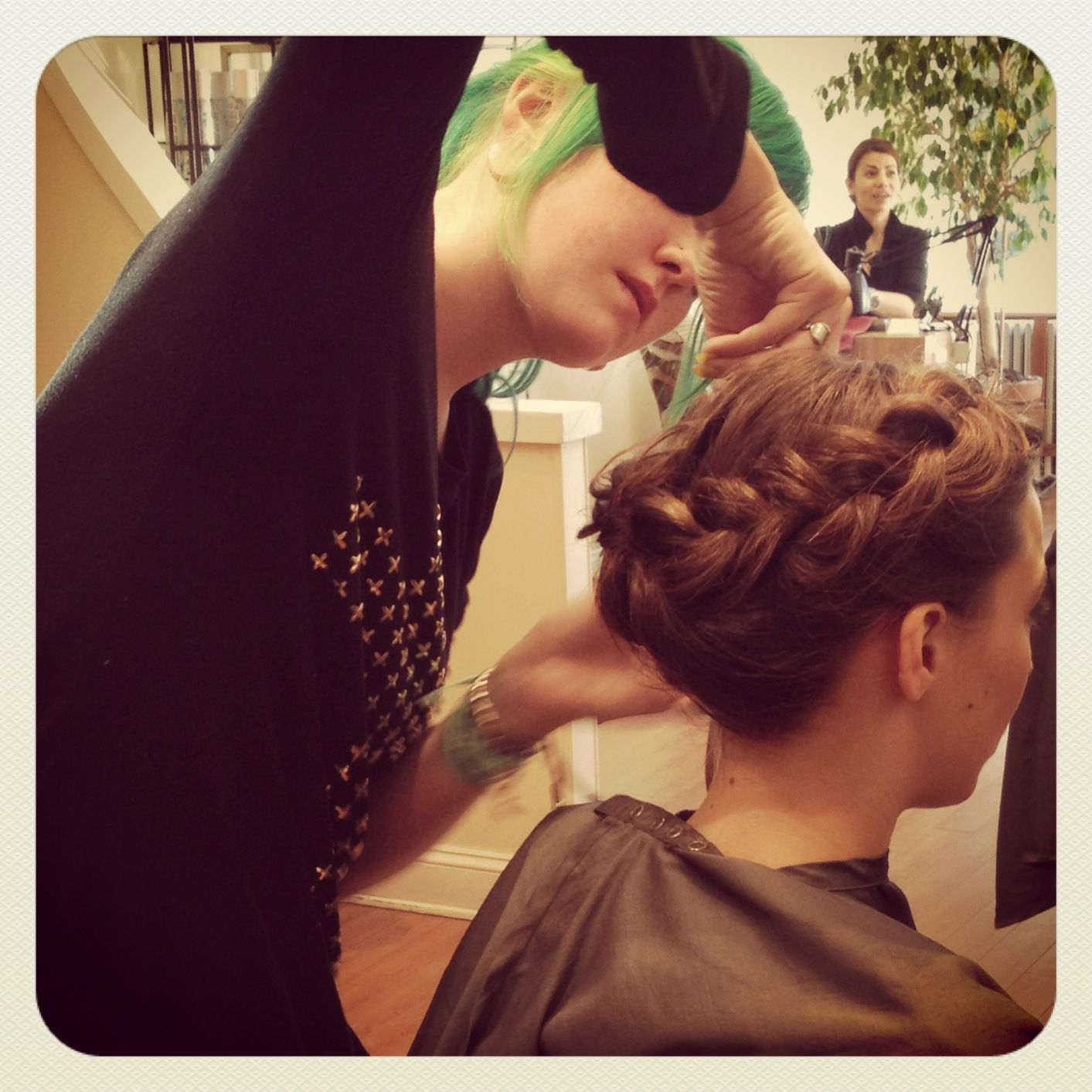 Braids via salon roula at sophia reyes photoshoot salon