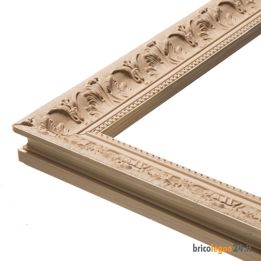 Cornice su misura in pasta di legno francesina '800 em