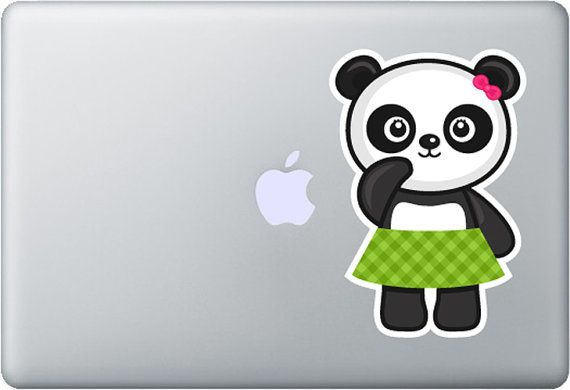 Cute panda macbook decal stickers decals custom by styleawall 18 99