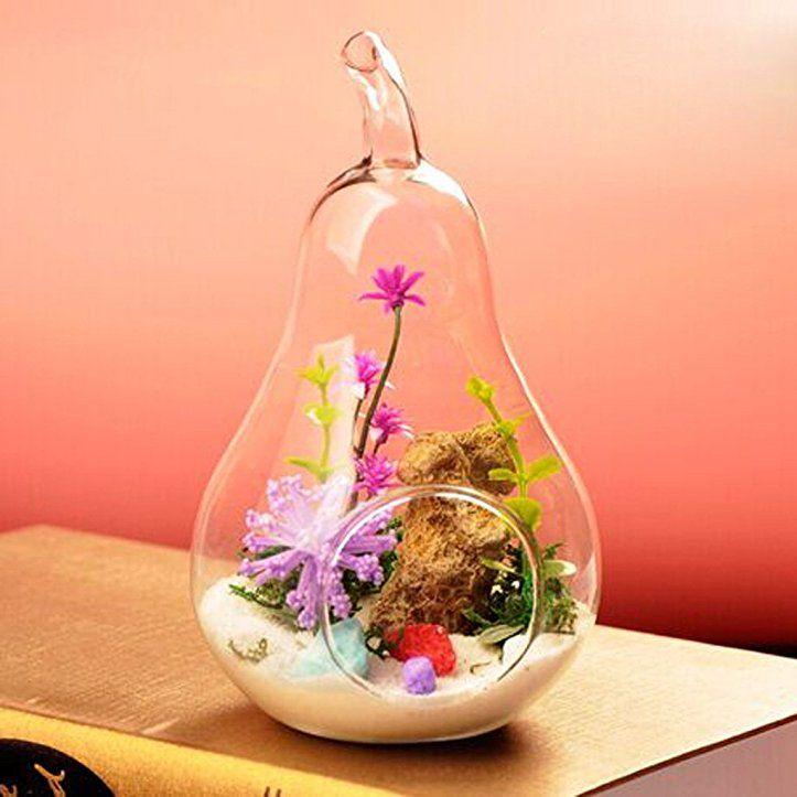 gazechimp h ngen oliven figur transparent glas vase glasvase flasche f r pflanzen. Black Bedroom Furniture Sets. Home Design Ideas