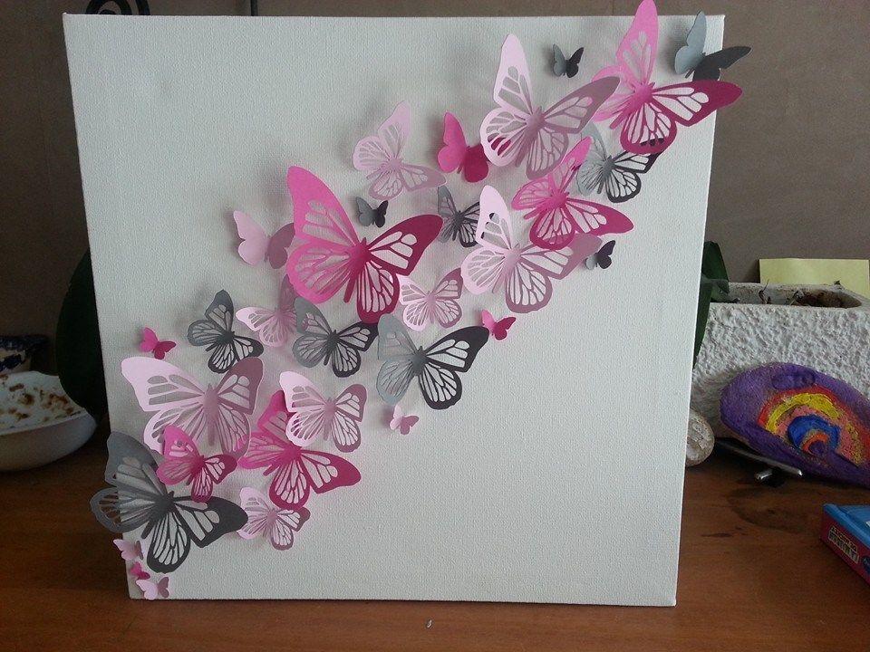 cadre papillons shilouette cameo portrait pinterest. Black Bedroom Furniture Sets. Home Design Ideas