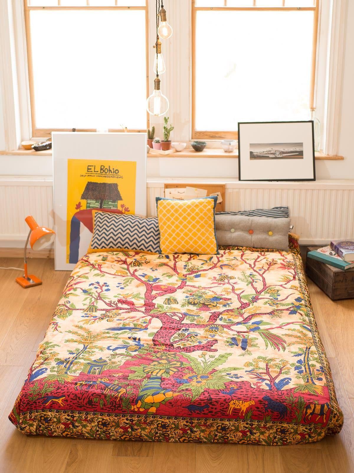 lit couvre lit Tenture arbre de vie / jetée de lit / couvre lit   Forgotten  lit couvre lit