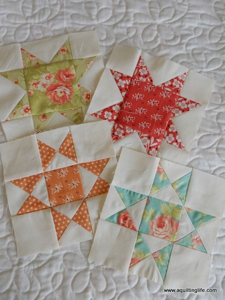 Summer Patchwork Sampler Quilt: Ohio Star | A Quilting Life