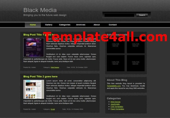 free css templates media black template design css design templates
