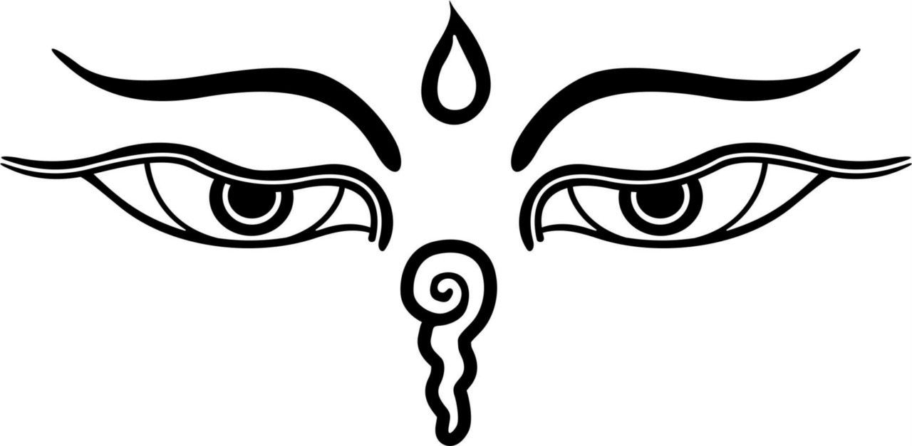 Buddha eyes tattoo pinterest tibetan buddha eyes symbol the material eyes are the two eyes which see the outer world while the inner eyes or the one which sees the dhamma is the one in biocorpaavc Images