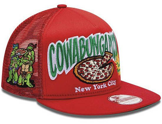 "uk availability bf61d 553f8 NEW ERA ""Cowabunga Pizza"" Trucker Snapback Cap   OH SNAPBACKS Vintage   New  Snapback Caps Hats"