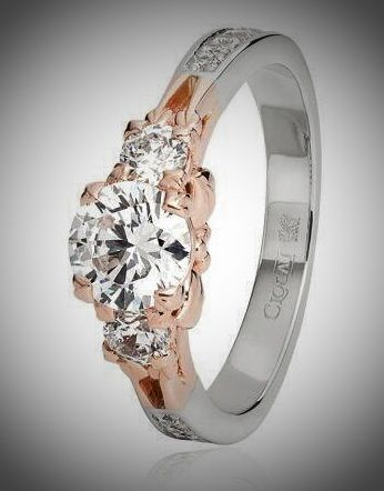 Clogau Engagement Ring Platinum Rose Gold Band