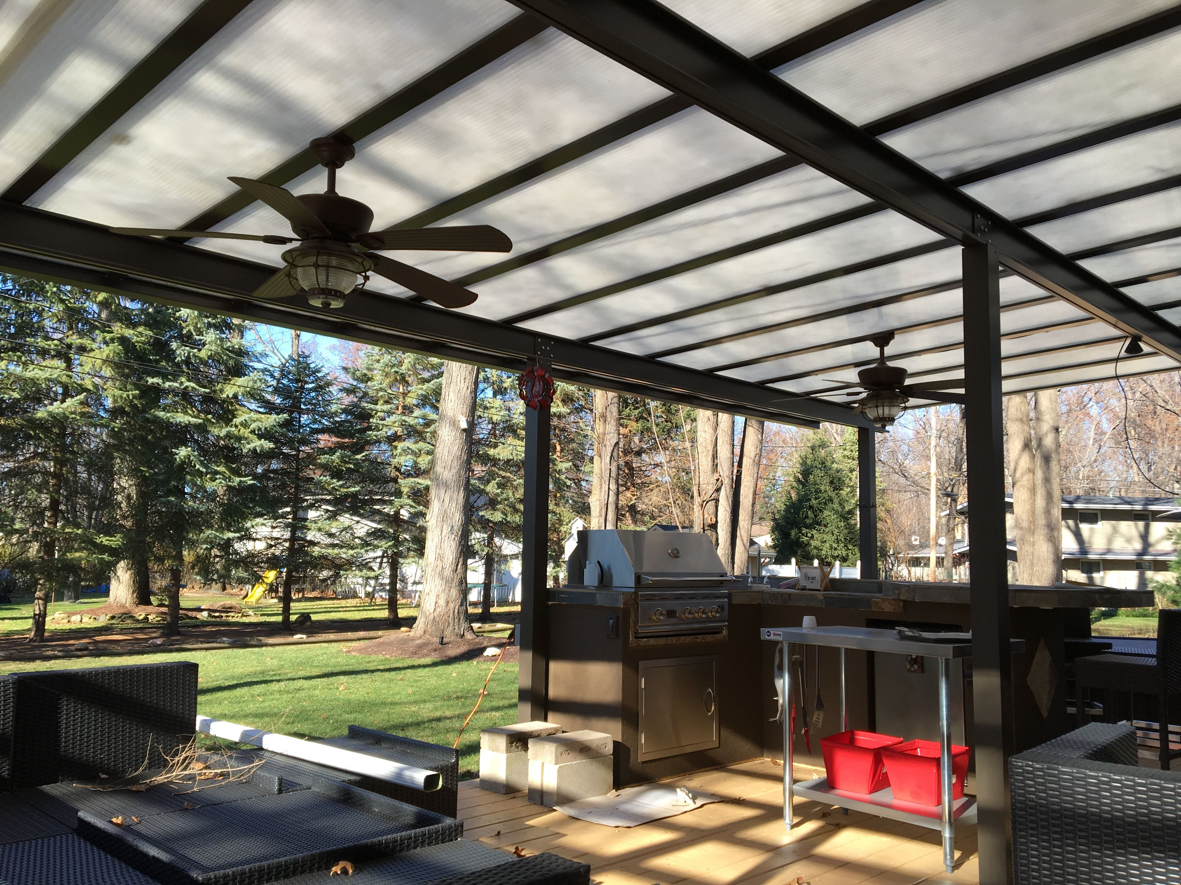 Pin By Susan Tuttle On Outdoor Kitchen And Fire Place Pergola Covered Decks Patio Deck