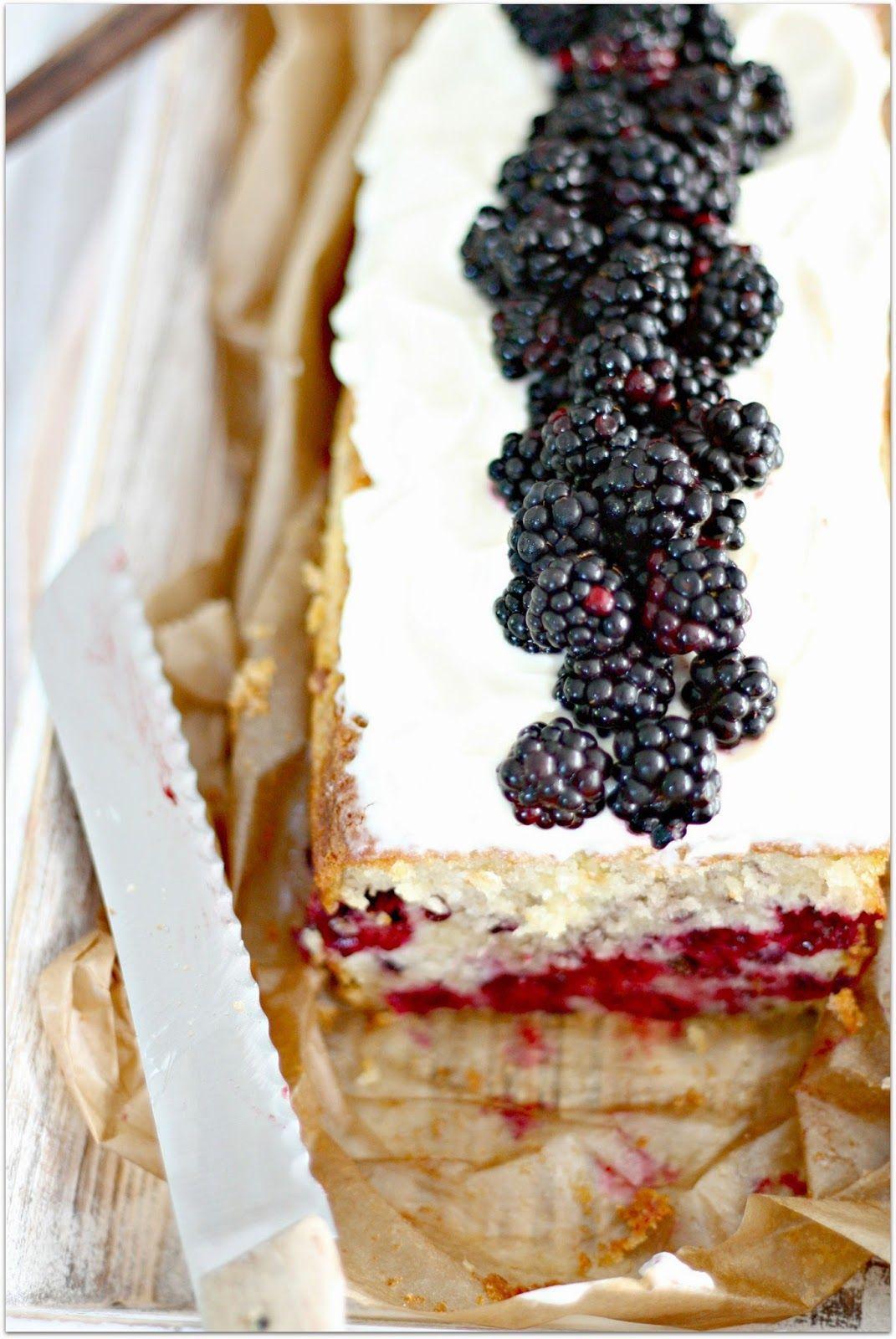 Brombeer Kuchen Mit Frischkase Topping Brombeere Kuchen