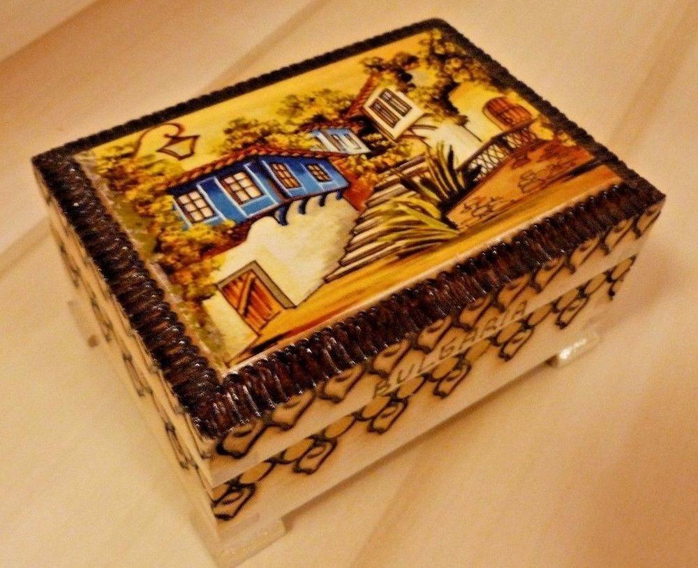 Handmade Bulgarian Wooden Casket Box Case Footlocker Souvenir Jewelry Storage | Jewelry & Watches, Jewelry Boxes & Organizers, Jewelry Boxes | eBay!