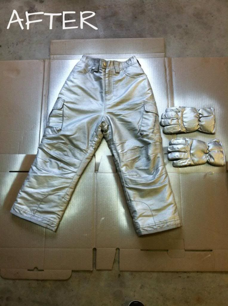 DIY Homemade Costume Halloween Astronaut Pants Could Be Used For DOFP Quicksilver