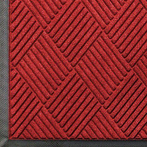 Andersen 208 Solid Red Polypropylene Waterhog Classic Diamond Entrance Mat 10 Length X 3 Width For Indoor Ou Entrance Mat Outdoor Floor Mats Indoor Outdoor