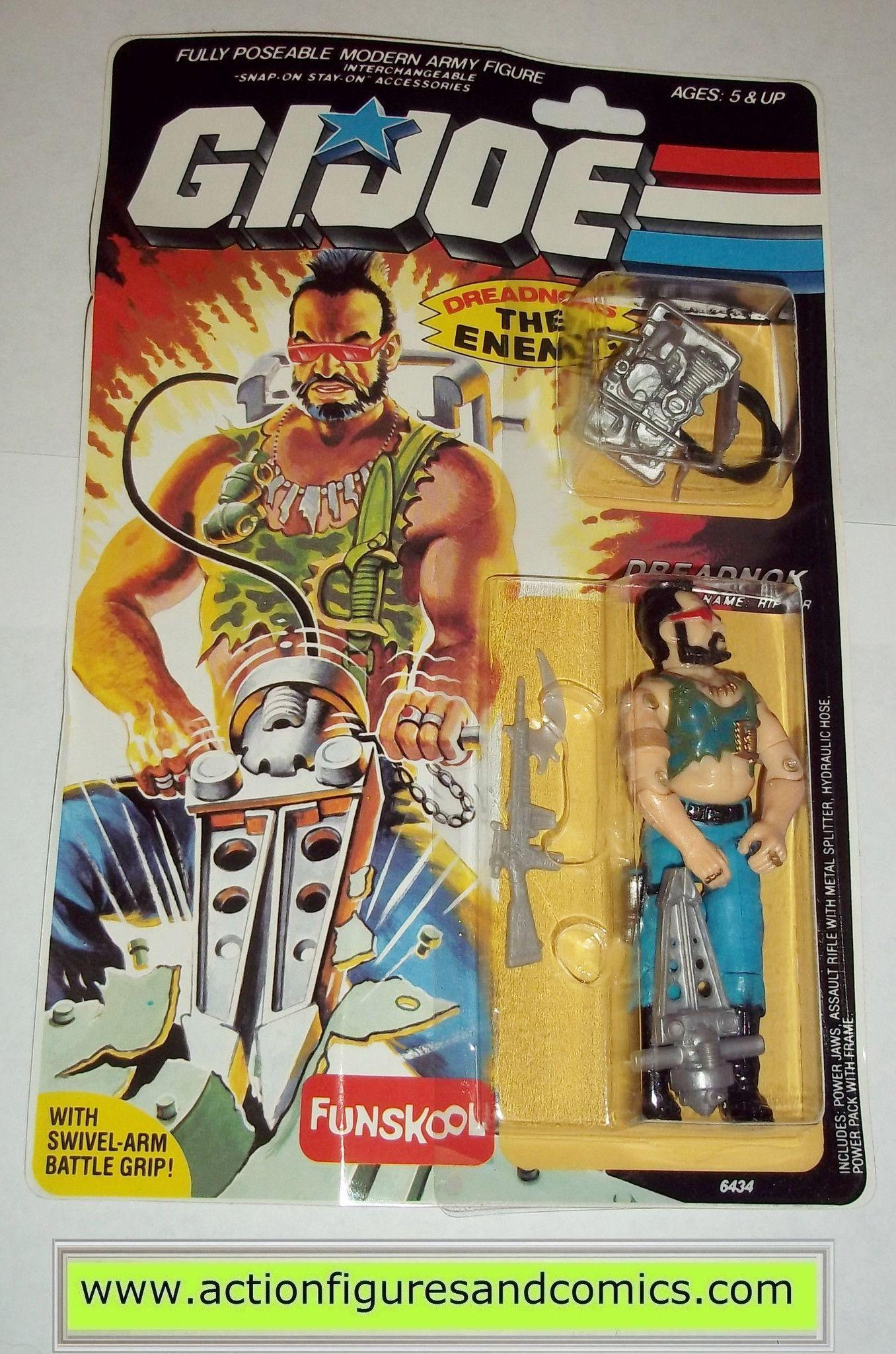 gi joe RIPPER dreadnok 1985 1999 funskool hasbro toys moc ...