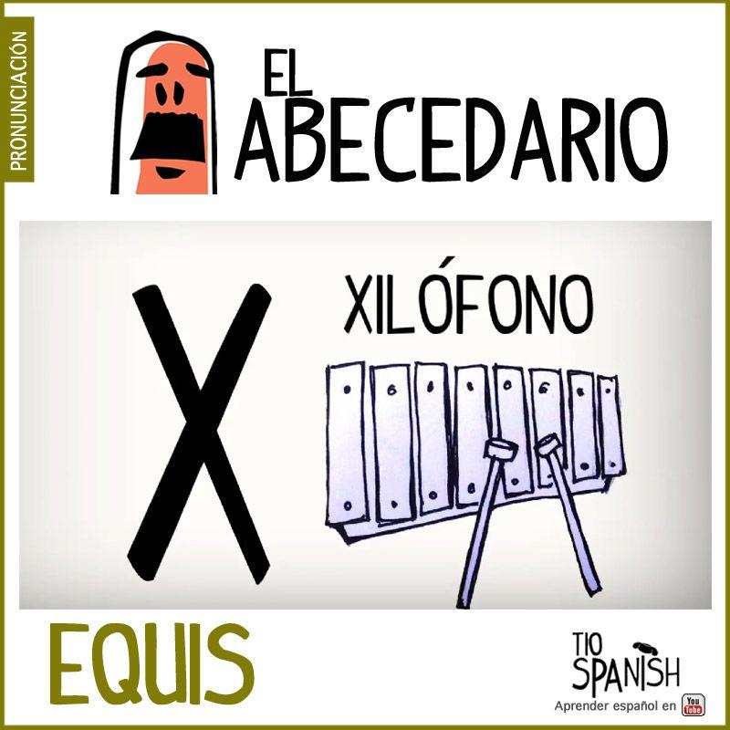 Letra X Equis Aprender El Abecedario Espanol Alfabeto