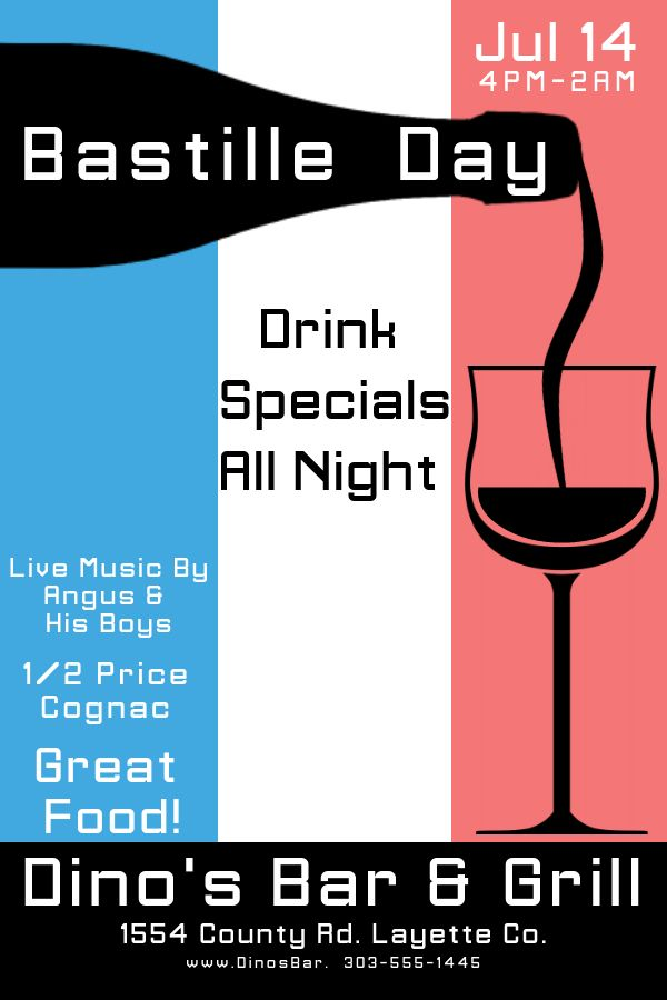 Printable Bastille Day poster template Click to customize