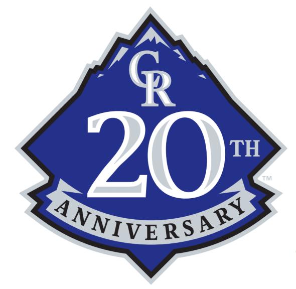Colorado Rockies 20th Anniversary Logo 2013 Colorado