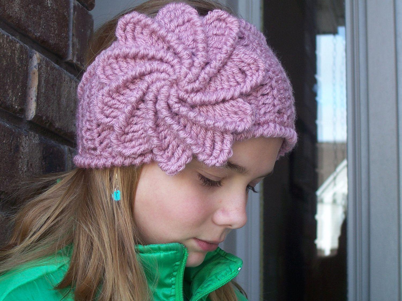 Crochet Spiral Flower Headband | crochet and knit | Pinterest ...