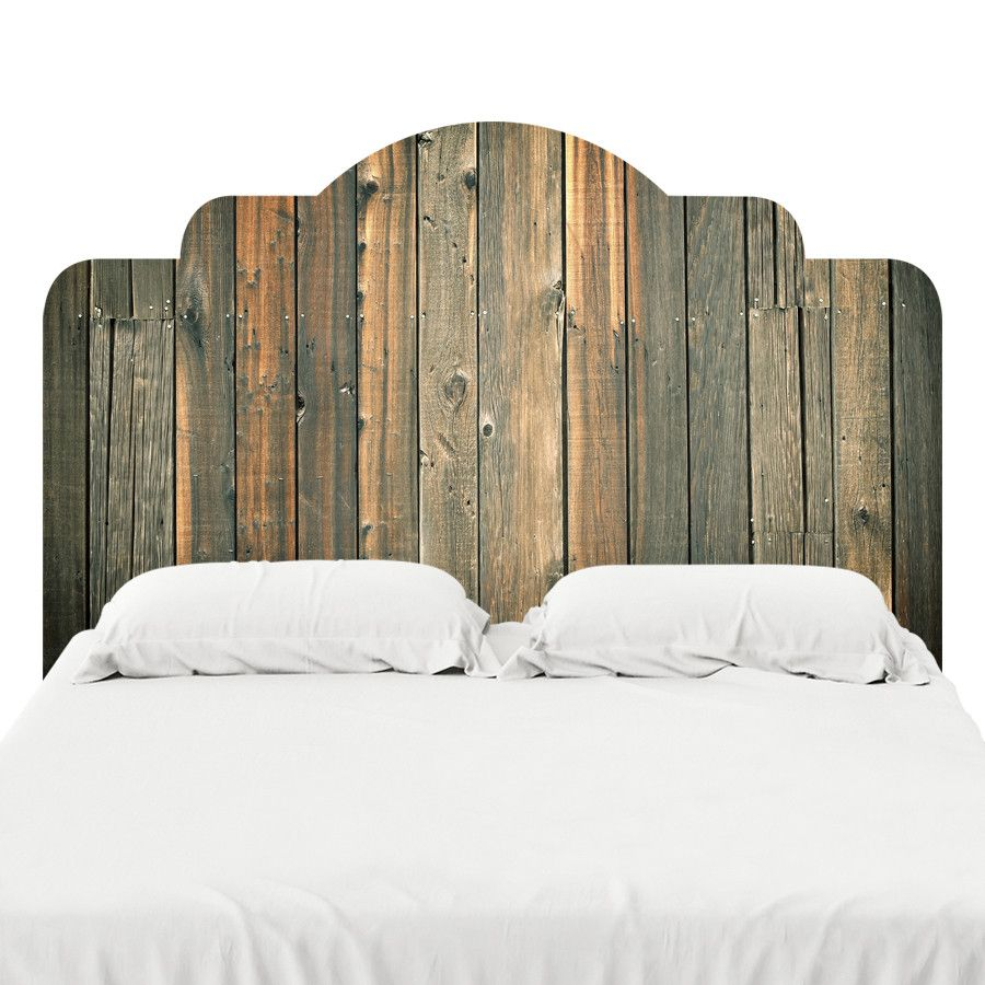 59 Incredibly Simple Rustic Décor Ideas That Can Make Your: Barn Wood 2 Headboard Decal