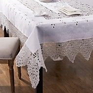 Embroider Tablecloth Handmade White Tablecloth – USD $ 29.99