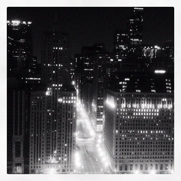 Night vision of Chicago's Loop. #instagramyourcity