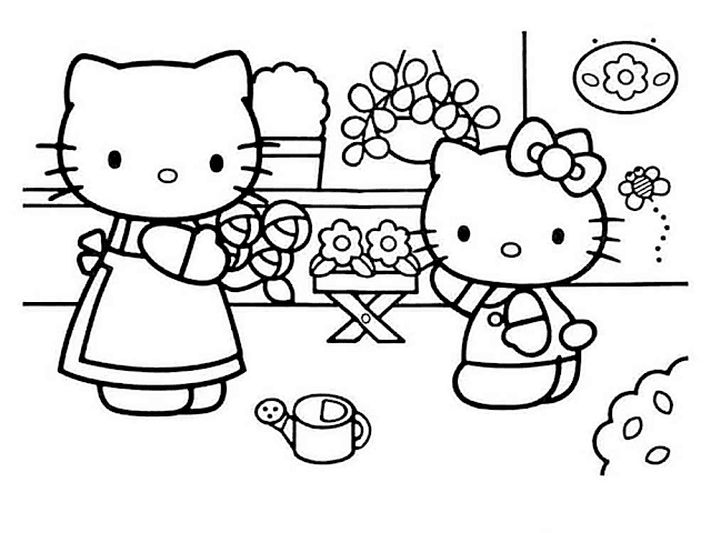 Download Gambar Mewarnai Hello Kitty Wallpaper Ilmuit Id