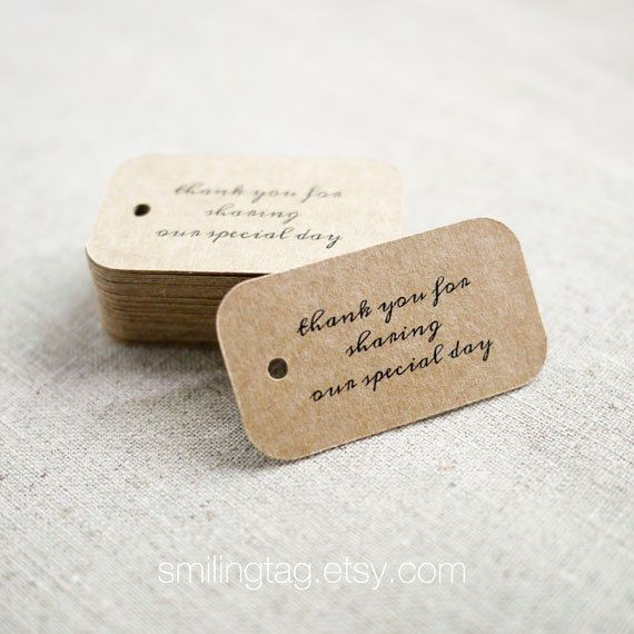 17 Best images about Thank You Tag on Pinterest | Wedding favour ...