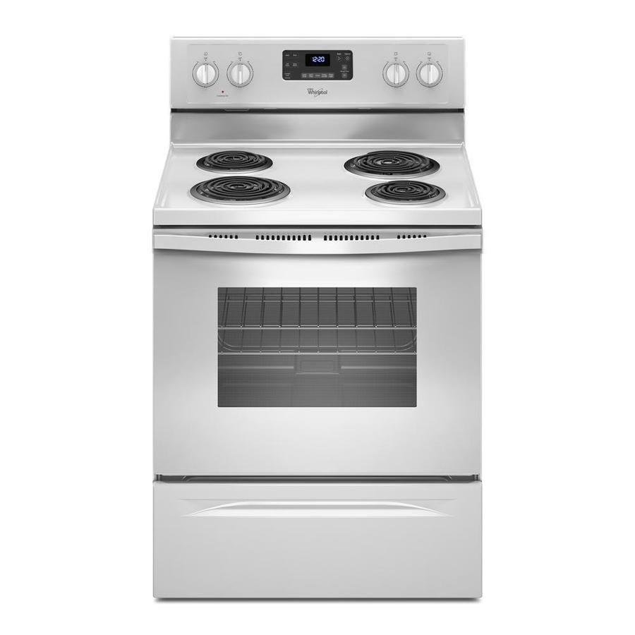 Whirlpool 4 Elements 4 8 Cu Ft Freestanding Electric Range White
