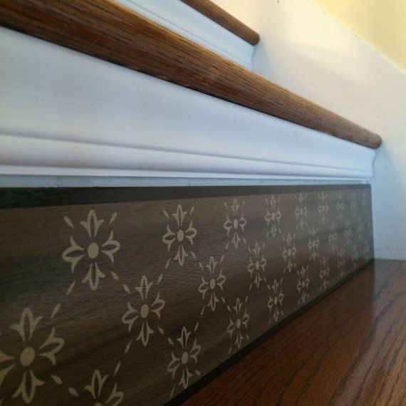 Carved Wood Stair Risers Stair Ideas Stamped Leather: Alternative To Stair Riser Decals, Stair Stencils And
