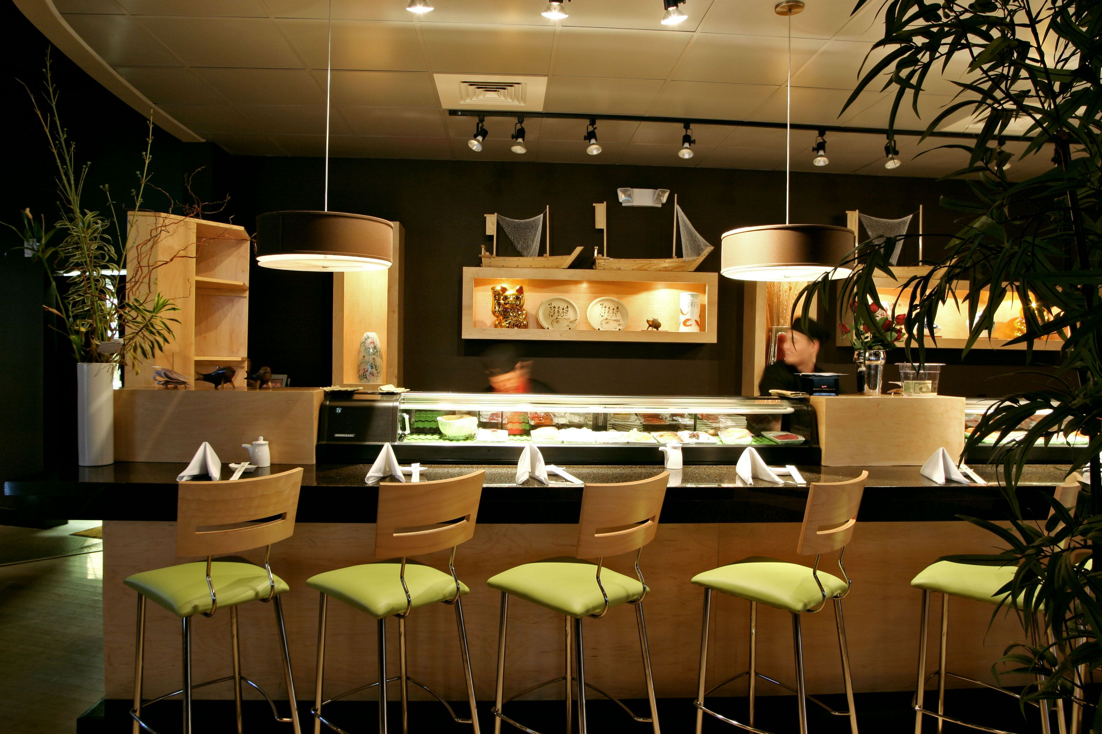 Sushi restaurants ginza japanese steak house sushi bar for Lounge interior ideas