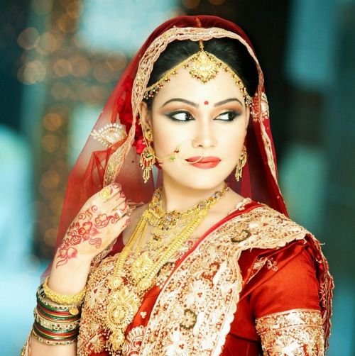 bfb9d062e66 Gorgeous Indian Girl In Hot Red Wedding Dress via...  wedding  weddings