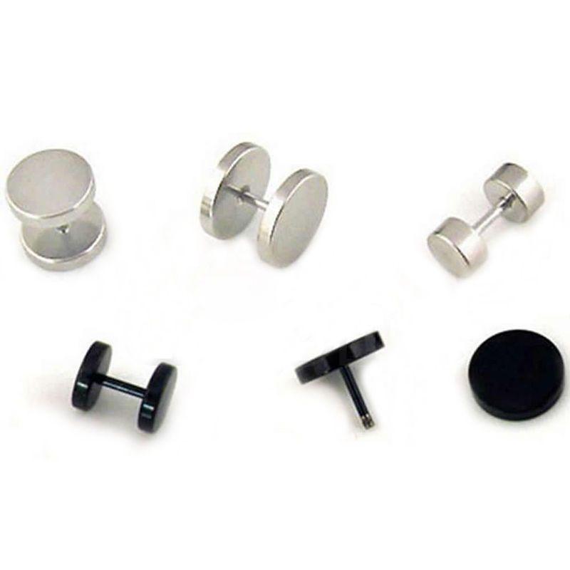 Titanium Steel Ear Studs Earring Round Unisex Women Men Ear Studs Earrings