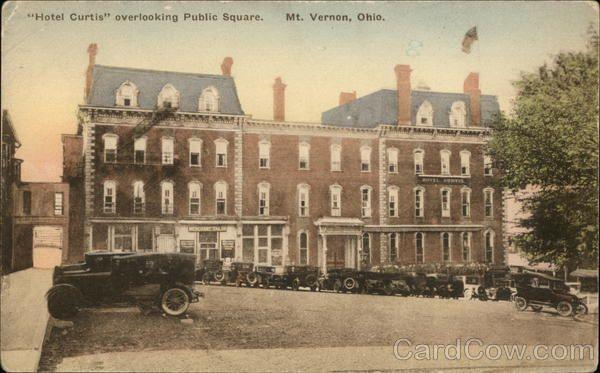 Hotel Curtis Overlooking Public Square Mount Vernon Ohio 1930s