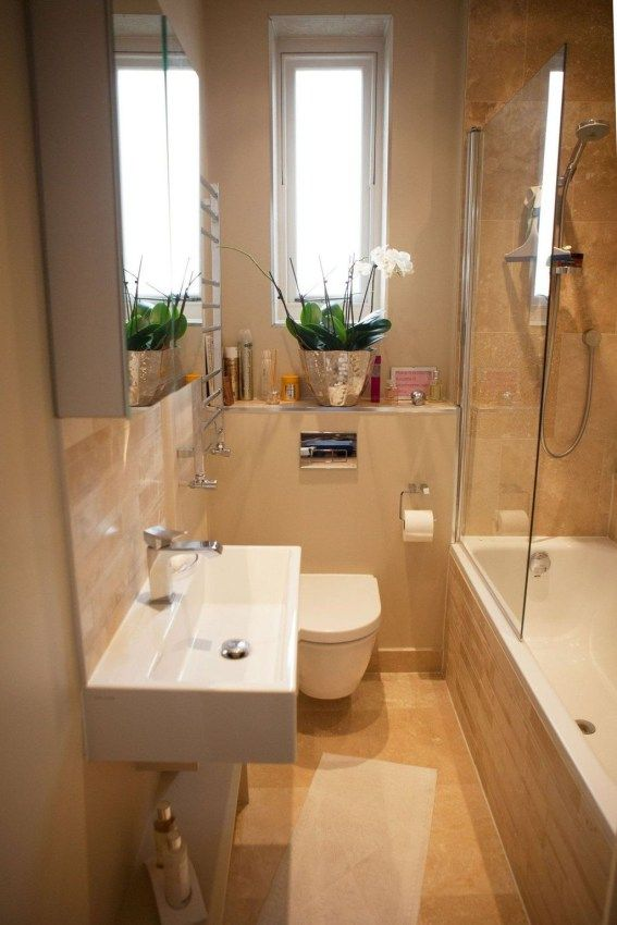 40 the best small bathroom design ideas to make it look larger rh pinterest ca