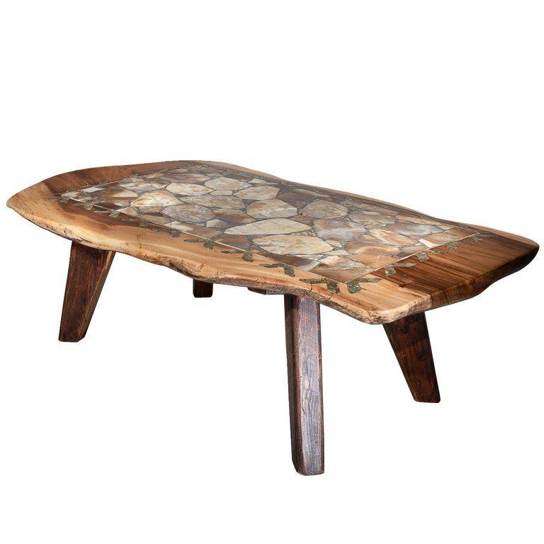 Agate Inlaid Coffee Table Table Coffee Decor