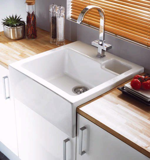 Astracast Canterbury 1.5 bowl sit-in ceramic kitchen sink. Size ...