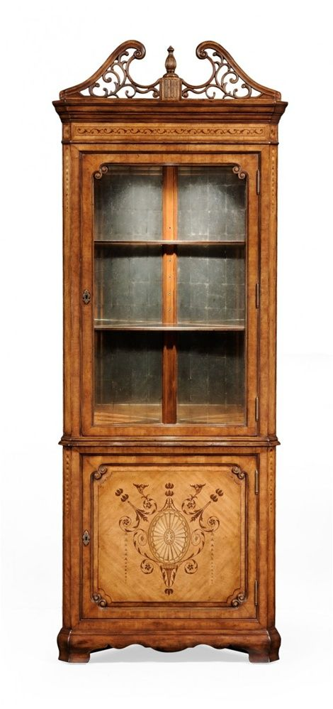 Corner China Cabinet High End Dining Rooms Home Furnishings Dining