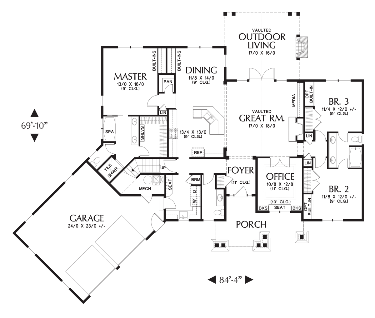 the ripley house plan 5180 3 bedrooms and 2 5 baths the house