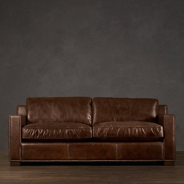 Distressed Leather Couch From Restoration Hardware One Of My Husbands Loves