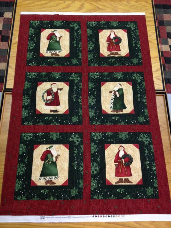 Debbie Mumm Stoffen.Elegant Santas By Debbie Mumm Fabric Panel Out Of Print