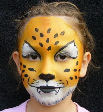 face painting leopard by jojos face painting via flickr face painting pinterest leopard. Black Bedroom Furniture Sets. Home Design Ideas