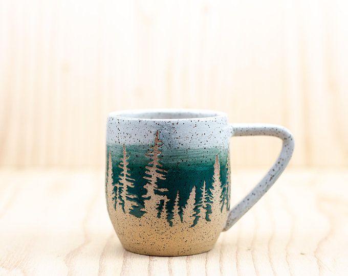 Grünen Baum Keramik-Becher #ceramicmugs