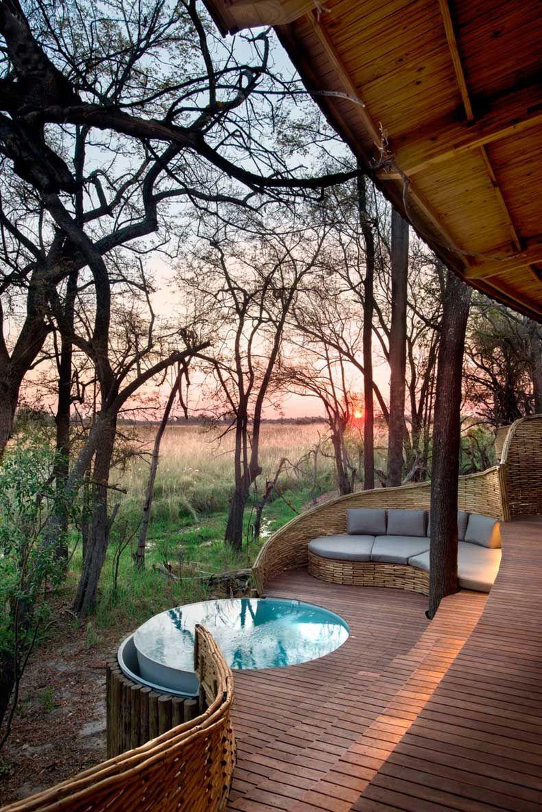 Un Lujoso Lodge Entre Los Arboles Y Animales De Africa Casas De Ensueno Hotel De Montana Banera Hidromasaje