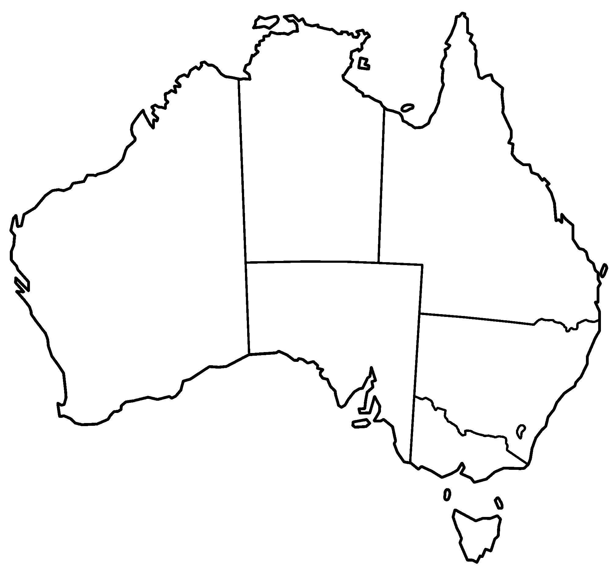 BlankAustraliamaps Thread Blank Australia Map Funny - Us map with state lines