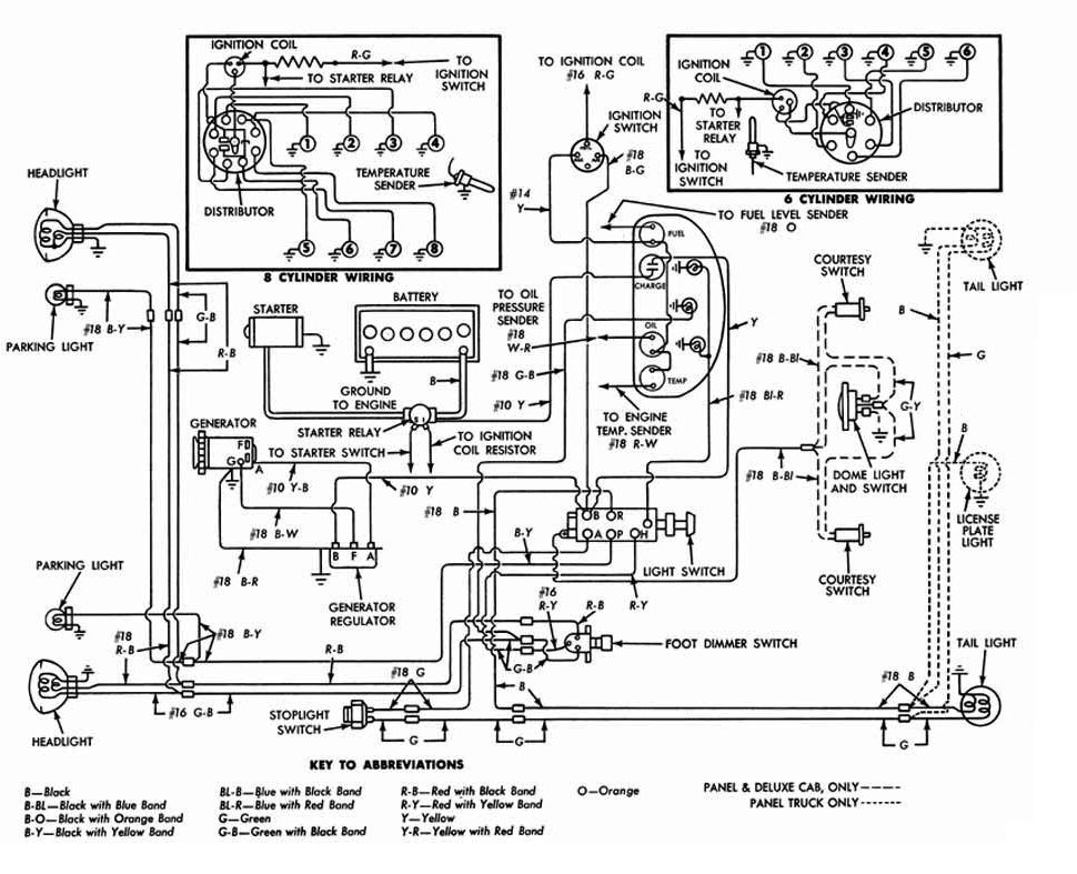 1950 ford wiring diagram lights