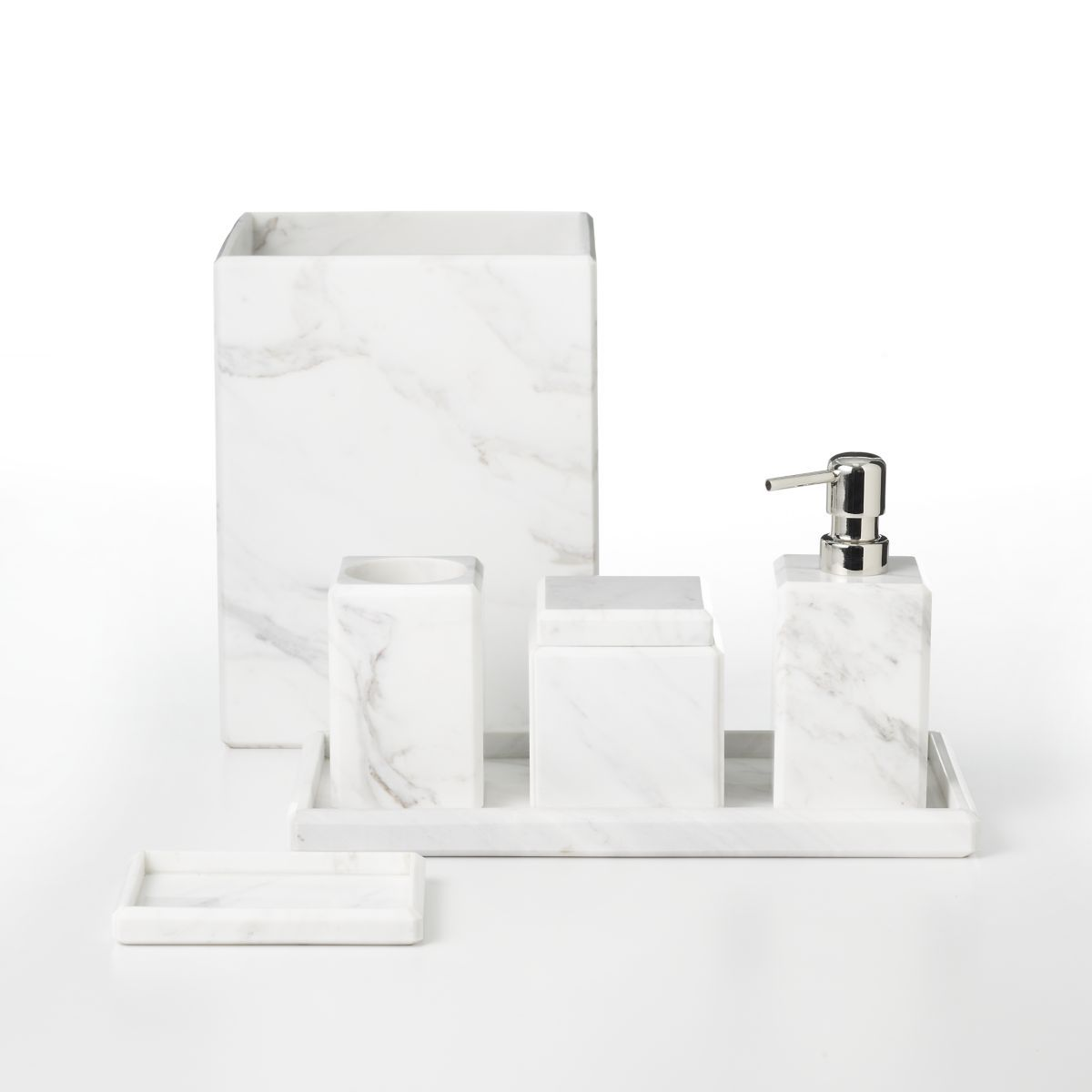 Carrara Marble Bath Accessories Shower Room Also Play Important Parts In Making Toilets Ealing And Useful