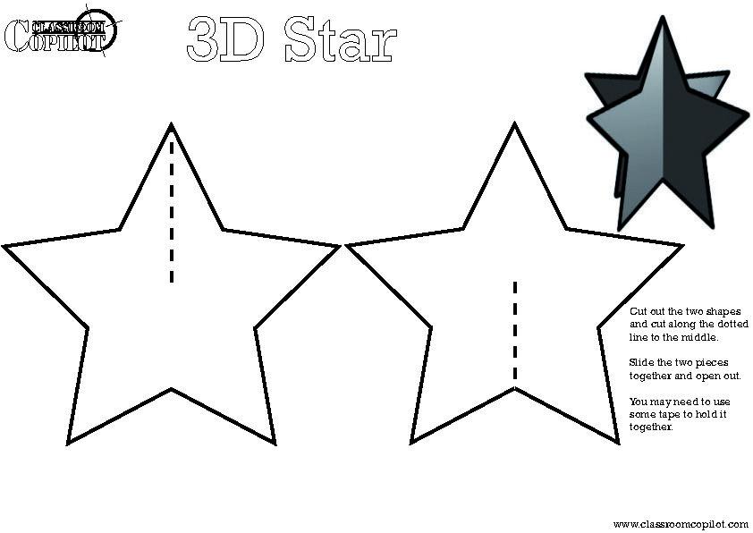 Classroom Copilot3D Christmas Star Classroom Copilot – Christmas Paper Template
